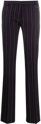 Versace Pre Owned 2000s Pinstripe Tailored Trousers