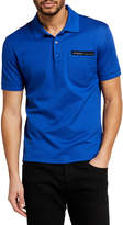 Givenchy Men's Solid Polo Shirt with Logo Tape