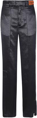 Heron Preston Straight-leg Logo Patched Trousers