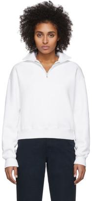 RE/DONE Off-White 70s Half-Zip Sweatshirt