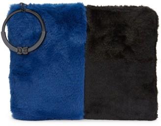 Sam Edelman Mavis Faux Fur Organizer Clutch