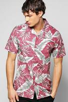 Boohoo Floral Print Revere Collar Shirt