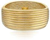 "Robert Lee Morris Soho ""Prisma"" Gold-Tone Sculptural Ribbed Hinged Bangle Bracelet"