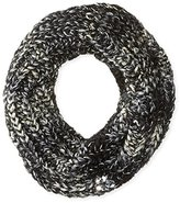 Betsey Johnson Women's Mixed-Yarn Knit Infinity Scarf with Faux Gems