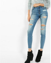 Express high waisted distressed ankle jean legging