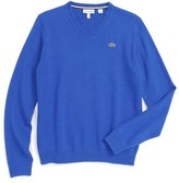 Lacoste Boy's Cotton & Wool Sweater