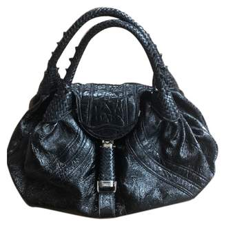 Fendi Spy Black Patent leather Handbags