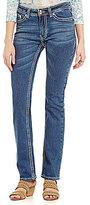Reba Jayden Embroidered Applique Straight Jeans