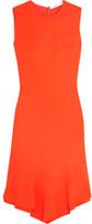 Givenchy Dress In Orange Stretch-cady With Ruffled Asymmetric Hem - FR34