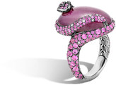 John Hardy Legends Cobra Ring in Silver with 20x15MM Gemstone, Diamonds