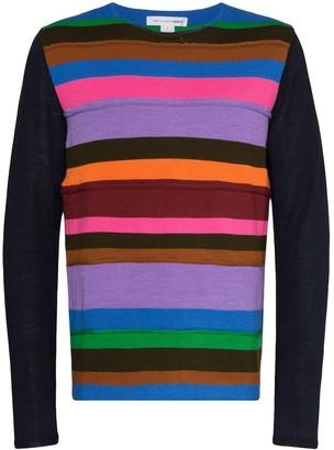 Comme des Garcons Striped Panel Knit Jumper