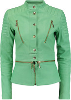 Just Cavalli Paneled leather jacket