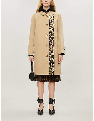 Burberry Walterstone leopard-print cotton trench coat