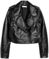 H&M Coated Biker Jacket - Black - Ladies