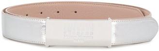 Maison Margiela 11 Logo Plaque Shiny Belt