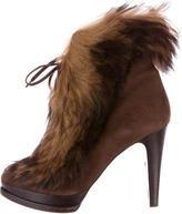 Ralph Lauren Suede Natalia Ankle Boots