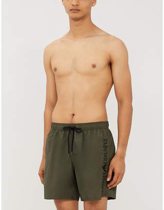 Emporio Armani Embroidered logo regular-fit swim shorts