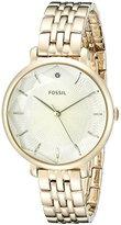 Fossil Women's ES3859 Incandesa Three-Hand Stainless Steel Watch - Gold-Tone