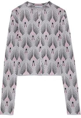 Paco Rabanne Crystal-embellished Metallic Jacquard-knit Cardigan