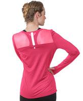 Soybu Women's Endurance Peek-A-Boo Racerback Long Sleeve Tee