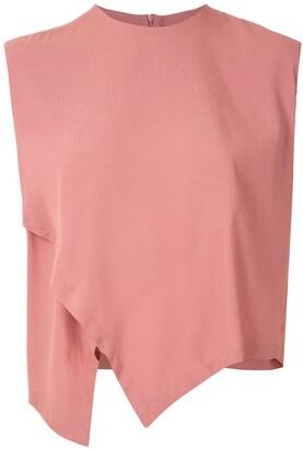 OSKLEN sleeveless wrap blouse