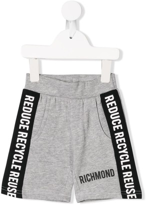 John Richmond Junior Logo Printed Shorts
