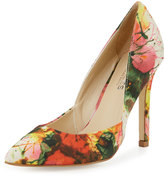 Charles by Charles David Parker Floral-Print Pointed-Toe Pump, Coral Red