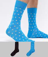 Selected 2 Pack Polka Dot Socks