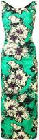 Miu Miu floral print fitted dress
