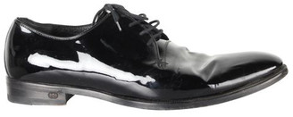 Gucci Black Patent Leather Derby Shoes Size 39