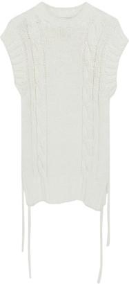 Chloé Eden White Sleeveless Knit Top