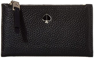 Kate Spade Polly Small Slim Bifold (Black) Wallet Handbags