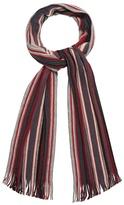 J By Jasper Conran Red Wool Stripe Scarf