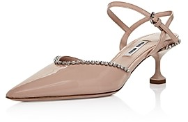 Miu Miu Women's Crystal Embellished Kitten Heel Pumps