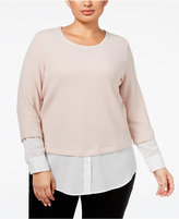 Calvin Klein Plus Size Layered-Look Top