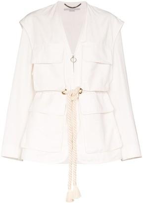 Stella McCartney Ania belted utility jacket