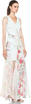 Zimmermann Clieque Paneled Fishnet Dress in Floral