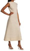 Thumbnail for your product : St. John Metallic Knit Low Back Dress