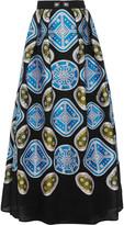 Peter Pilotto Embroidered cloqué maxi skirt