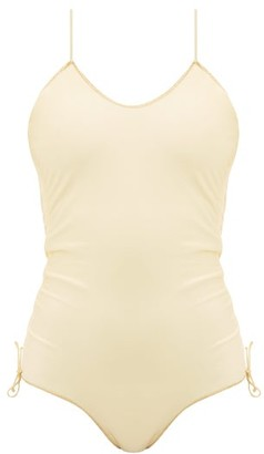 Oseree Gathered-seam Scoop-neck Swimsuit - Yellow