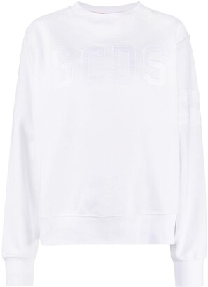 GCDS Oversized Logo Embroidered Sweatshirt