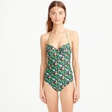 J.Crew Underwire halter one-piece swimsuit in Ratti® lotus floral print