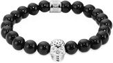 Northskull Onyx Perforated Skull Men's Bracelet