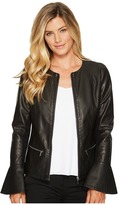 Calvin Klein Center Zip Jacket with Flare Sleeve Women's Clothing
