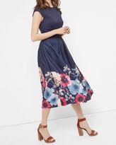 VALQUIR Neon Poppy full skirted dress
