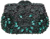 Bonjanvye Rose Metallic Clutch Purses And Handbags For Womens Evening Bags