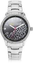 Just Cavalli Huge JC 3H Black Dial Silver Stainless Steel Women's Watch