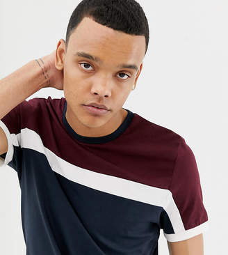 Asos Design DESIGN Tall t-shirt with colour block in navy