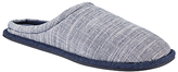 Kin By John Lewis Slub Weave Slippers, Blue/off White