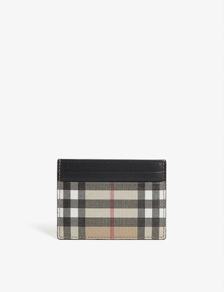 Burberry Sandon check leather card holder